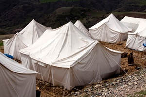 tents made with power textile fabric are an ideal use case